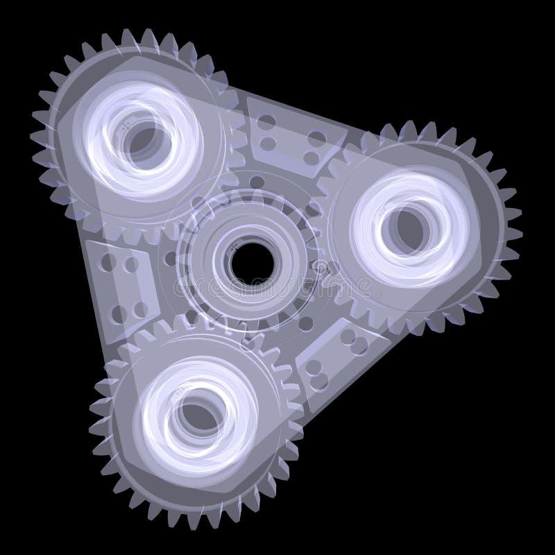 Mekanism med kugghjul vektor illustrationer