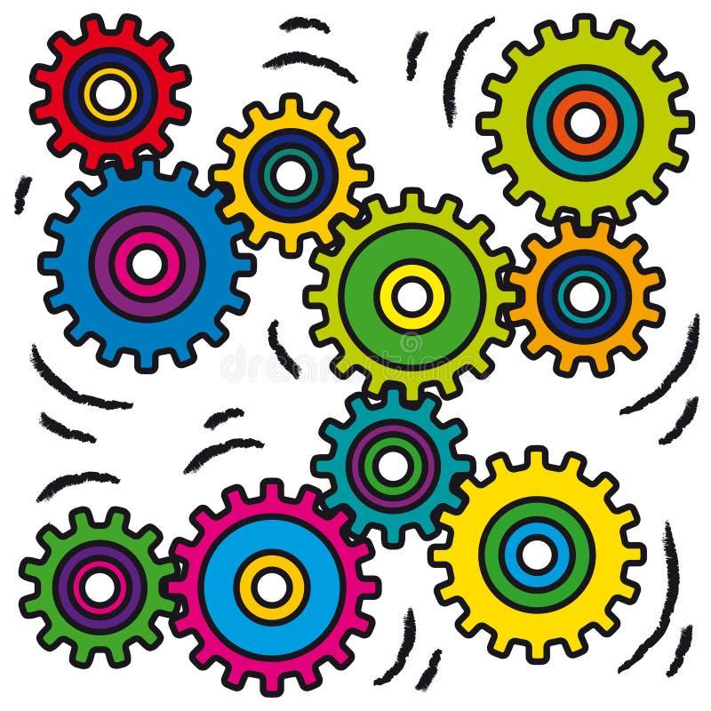 mekanismrörelsevektor royaltyfri illustrationer