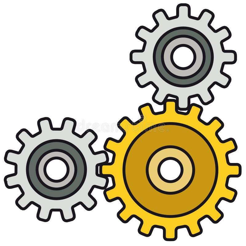 mekanismvektor stock illustrationer