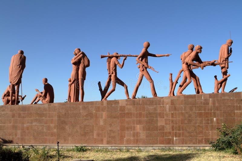 Mekele的纪念碑在埃塞俄比亚 免版税图库摄影
