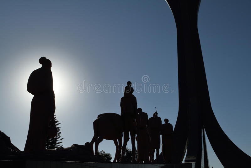 Mekele的纪念碑在埃塞俄比亚 库存照片