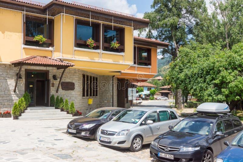 Mekhana - national restaurant in the center of Koprivshtitsa, Bulgaria royalty free stock image