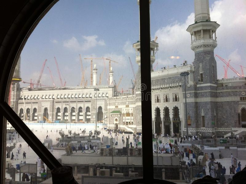 Mekka im Bau stockfotografie