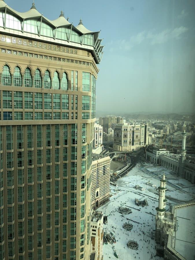 Mekka, Makkah zgadzam si? barwi? Arabii obszaru klip elewacj? zawiera siwiej?c? jest zagadk? nawet drog? ulga cieni?cy saudyjczyk obrazy royalty free
