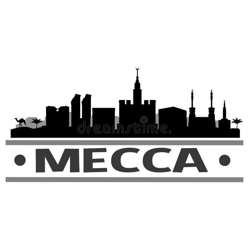 Mekki linii horyzontu miasta ikony sztuki Wektorowy projekt ilustracja wektor