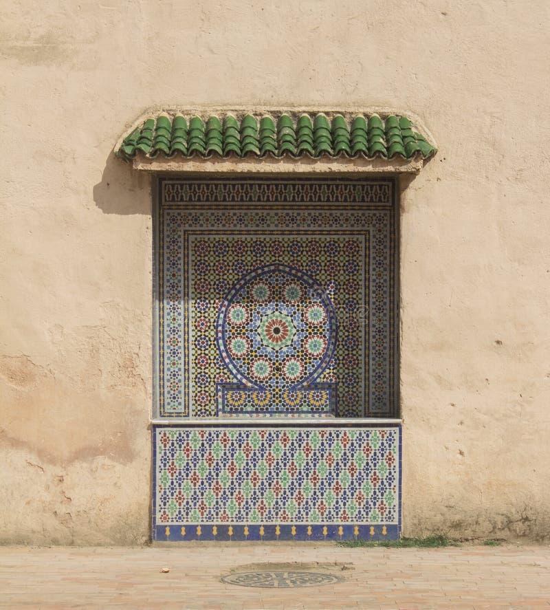 Meknes mosaikvägg arkivbild