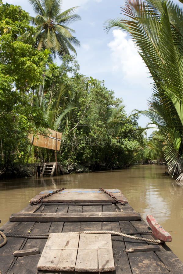 Mekong του δέλτα Βιετνάμ στοκ εικόνα