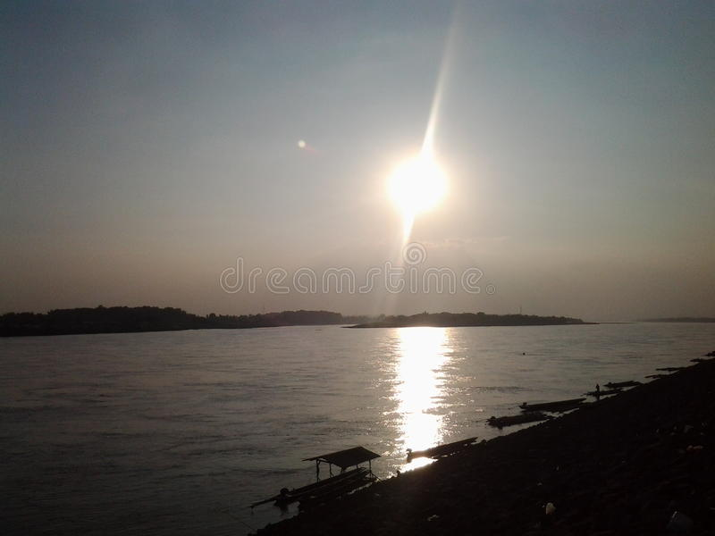 Mekong όχθη ποταμού στοκ εικόνες