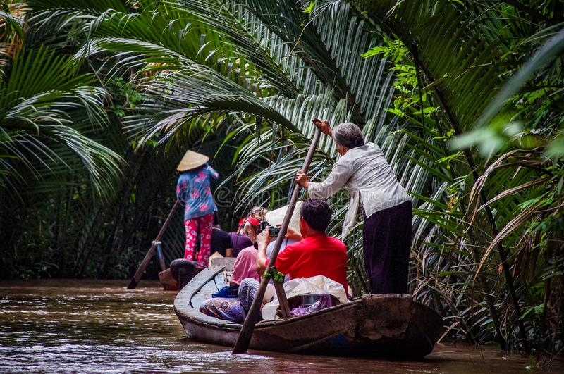 Mekong Delta Boat Trip Vietnam South East Asia royalty free stock photo