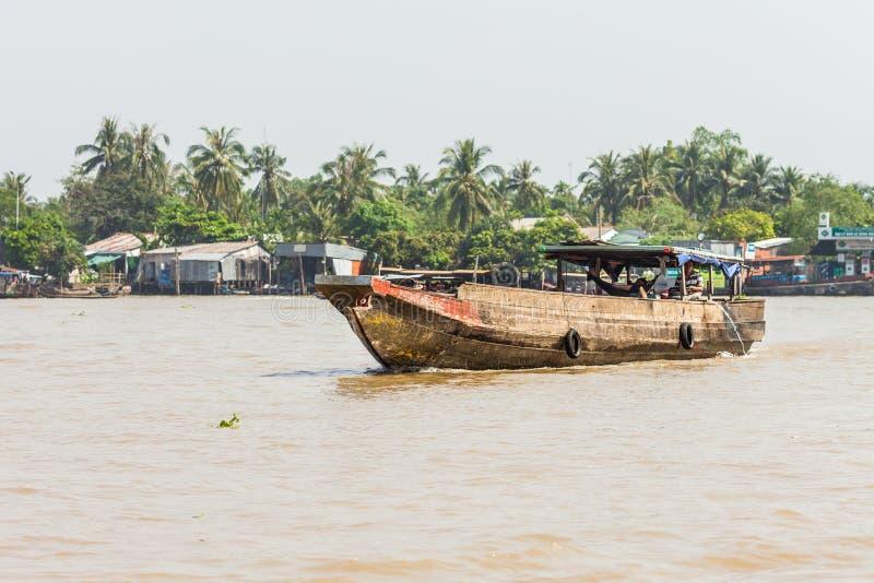 Mekong delta, Cai Be Town, Vietnam arkivbild