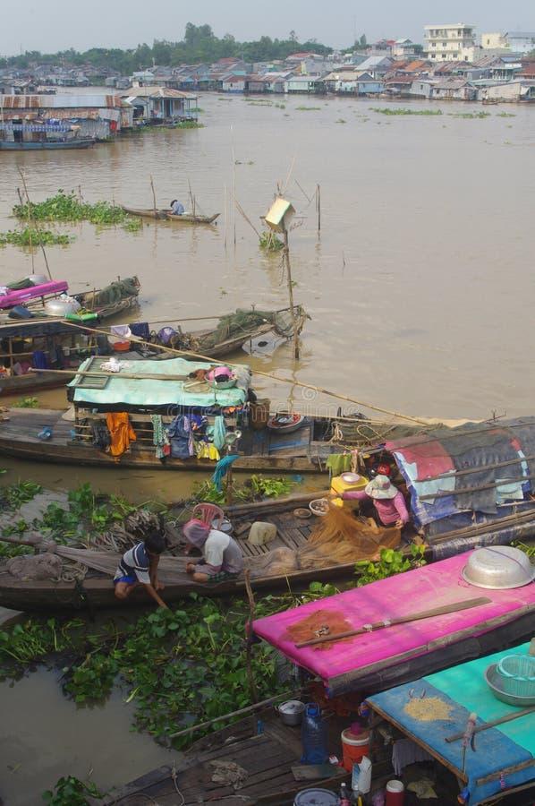 Mekong delta w Chau Doc zdjęcie stock