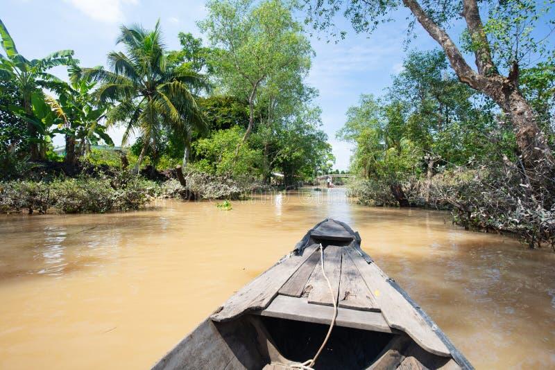 Mekong delty rzeki styl życia obraz royalty free