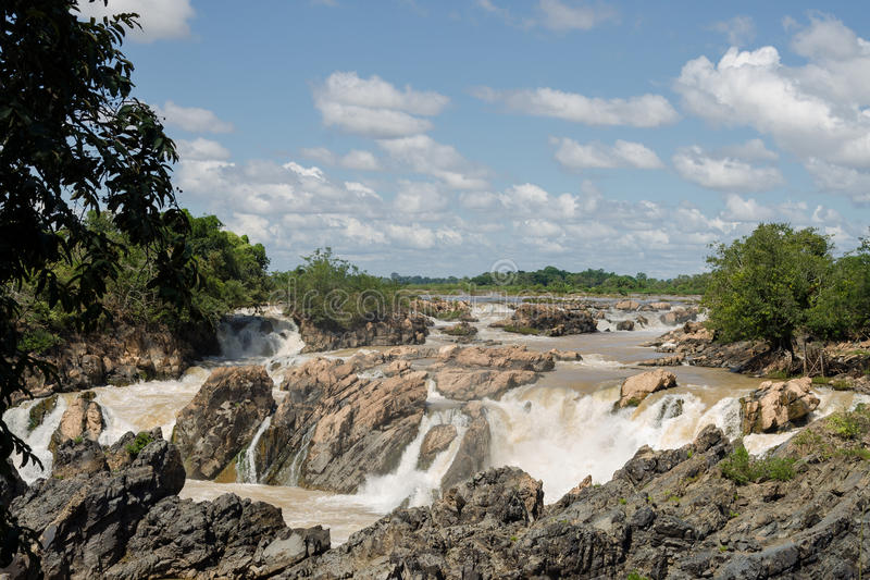 The Mekong falls stock images
