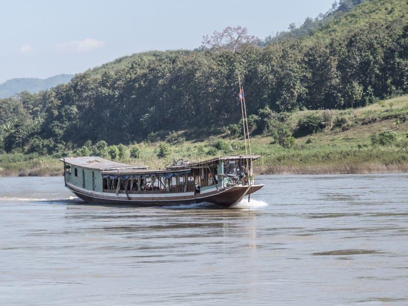 Mekong river boat royalty-vrije stock fotografie