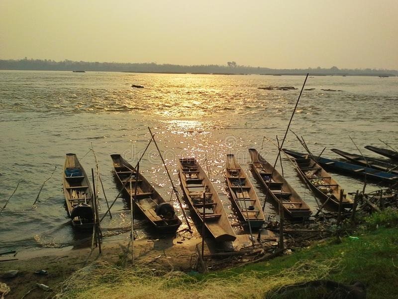 The Mekong River royalty free stock photos