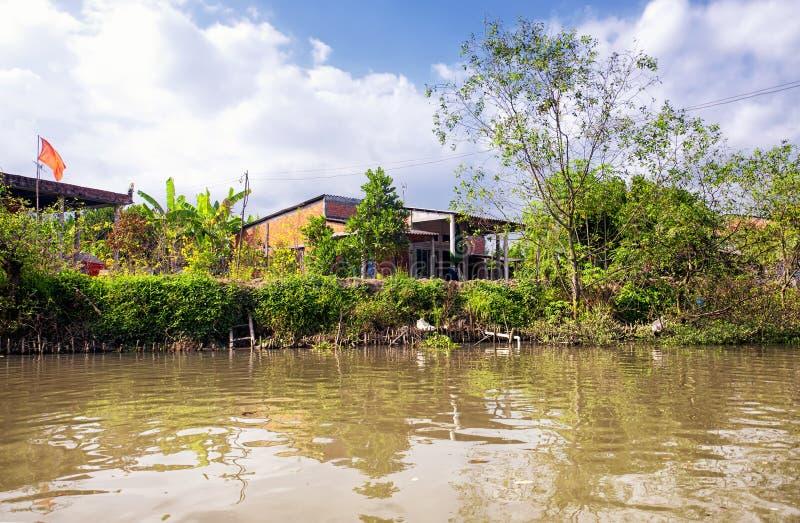 Mekong river delta south vietnam stock image
