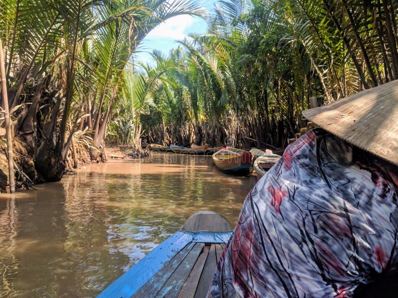 Mekong river delta tour south of vietnam stock images