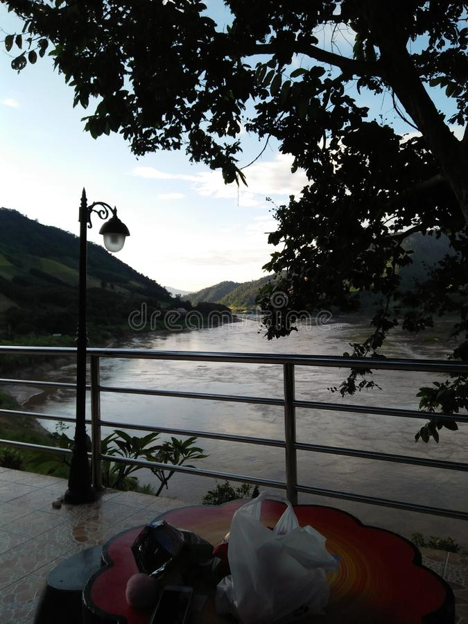 Mekong River em Tailândia fotos de stock