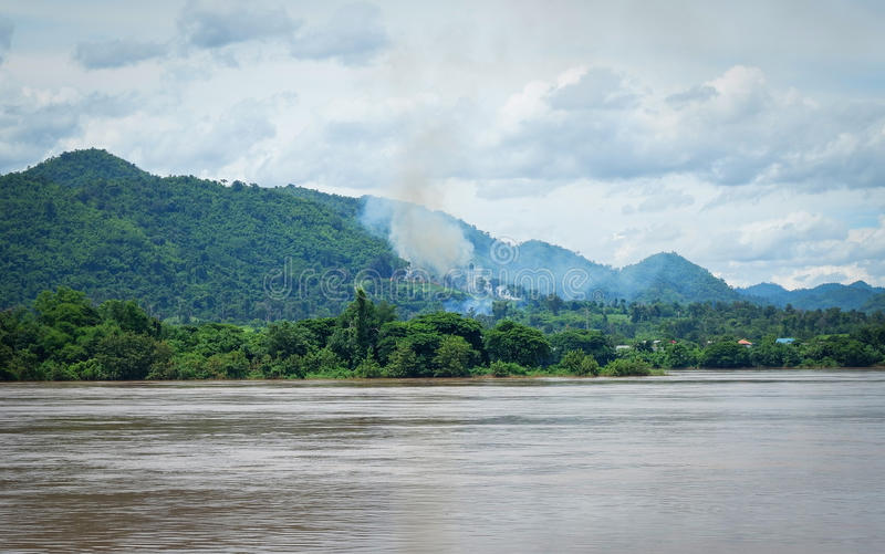 Mekong River laos fotografia de stock royalty free