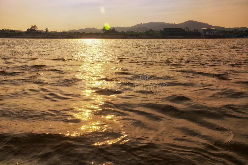 Mekong River Thailand royaltyfri bild