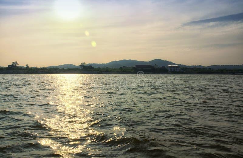 Mekong River Thailand fotografering för bildbyråer