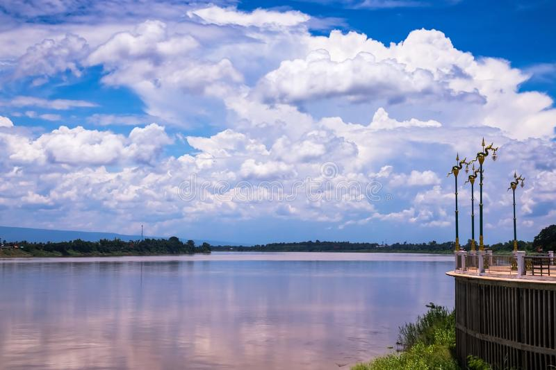 Mekong Riverbank. Travel destination at Phon Phisai in Nong Khai Province of Thailand royalty free stock photo