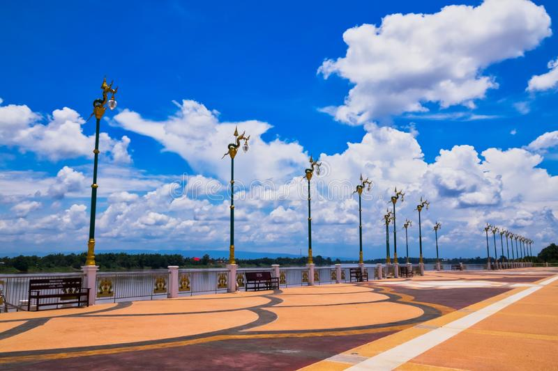 Mekong Riverbank. Travel destination at Phon Phisai in Nong Khai Province of Thailand stock image