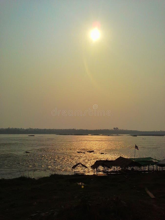 Mekong riverside thailand royalty free stock photography