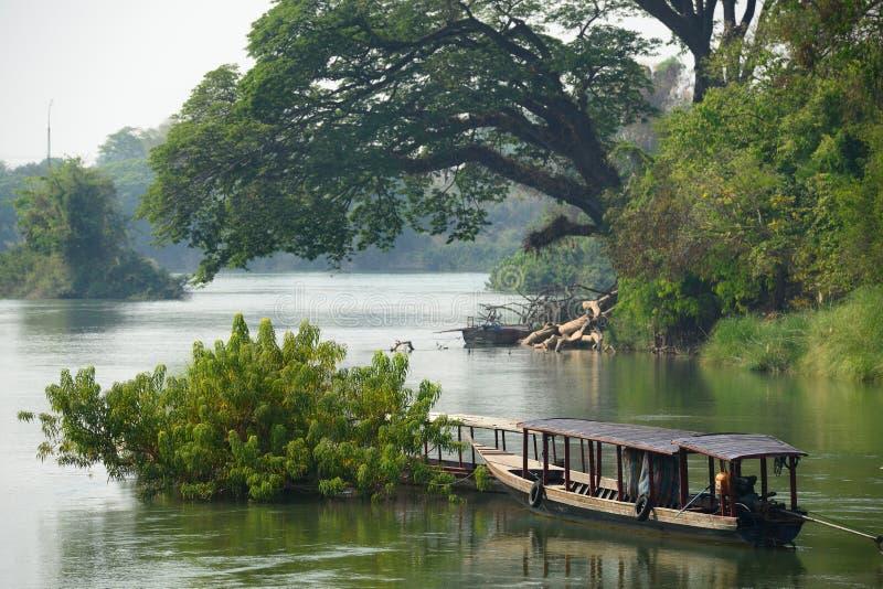 Mekong Rivier, Laos stock fotografie