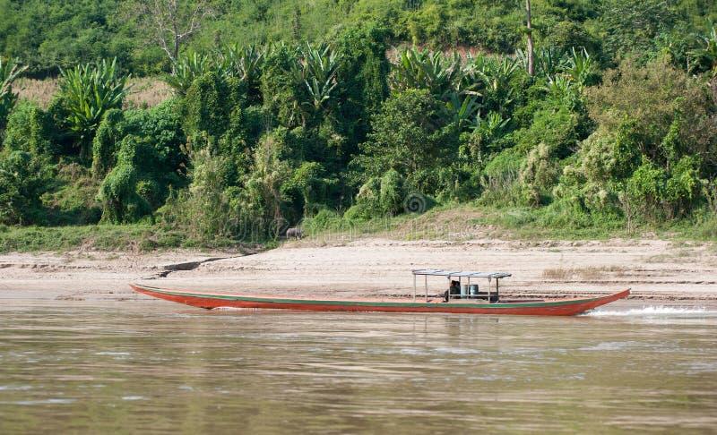 Mekong Rzeczny rejs w Laos obrazy royalty free