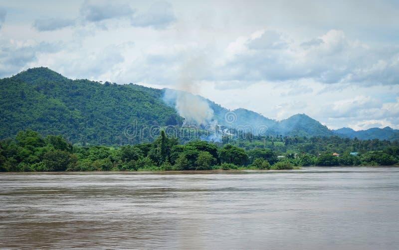 Mekong rzeka Laos fotografia royalty free