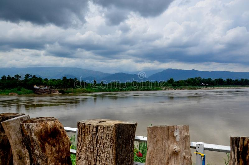 Mekong rzeki punkt widzenia fotografia stock