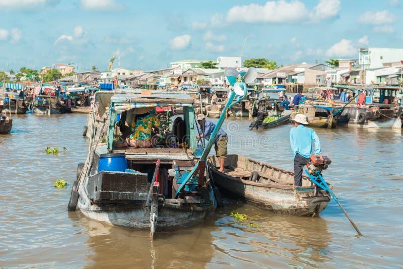 Mekong spławowy rynek obrazy royalty free