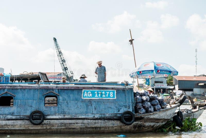 Mekong spławowy rynek zdjęcie stock