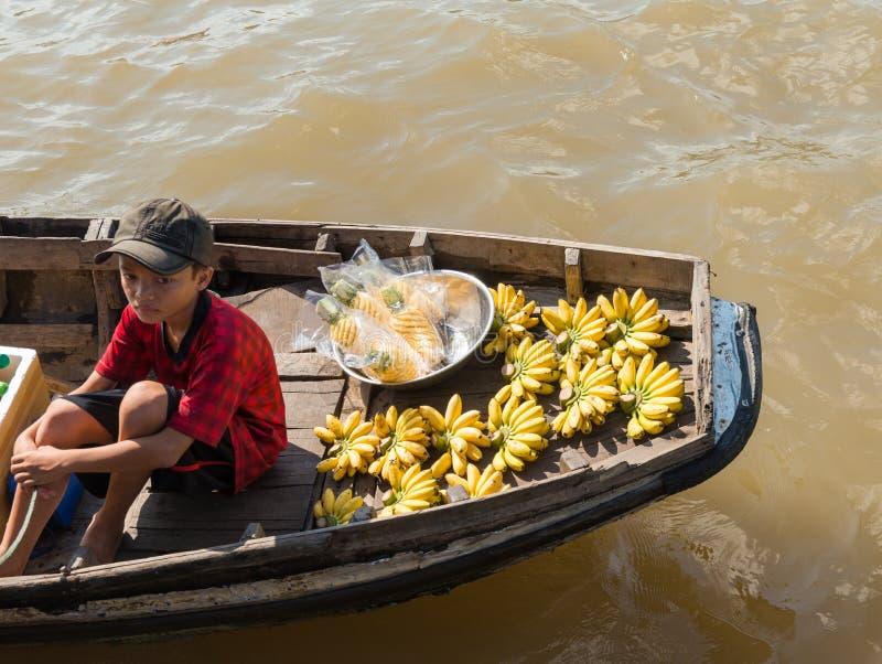 Mekong spławowy rynek zdjęcie royalty free