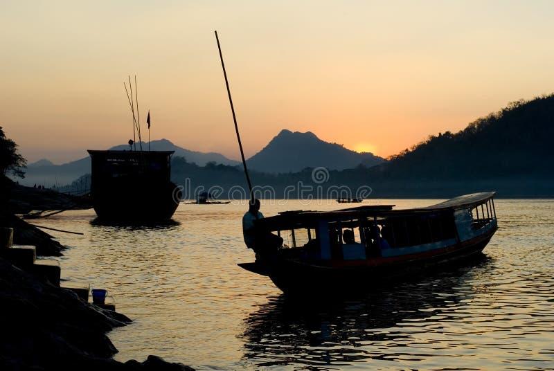 Mekong Vista, Luang Prabang, Laos fotografia stock
