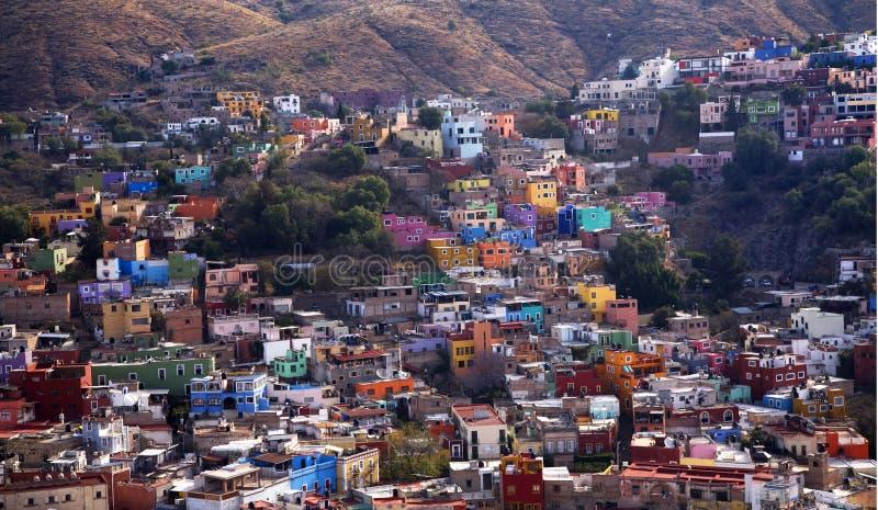Meksyk Barwili Domy Guanajuato Meksyk zdjęcie royalty free