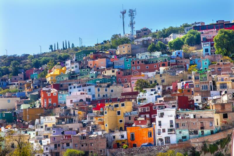 Meksyk Barwili Domy Guanajuato Meksyk obrazy royalty free