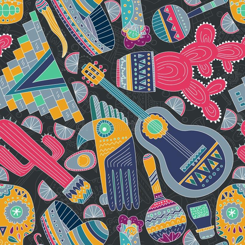 Meksyk bezszwowy wzór ilustracji