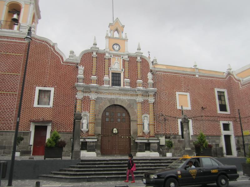 Meksyk, centrum Puebla miasto obraz stock