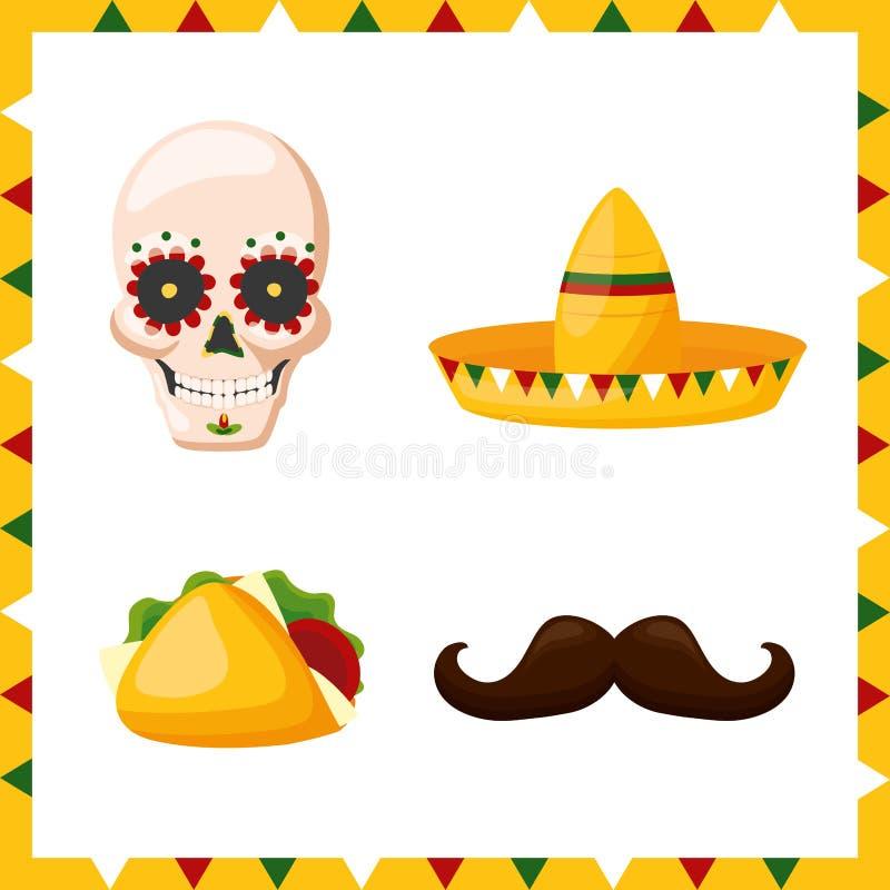 Meksyk cinco de Mayo ilustracji