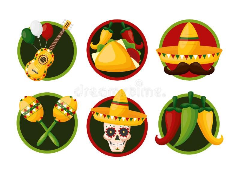 Meksyk cinco de Mayo royalty ilustracja