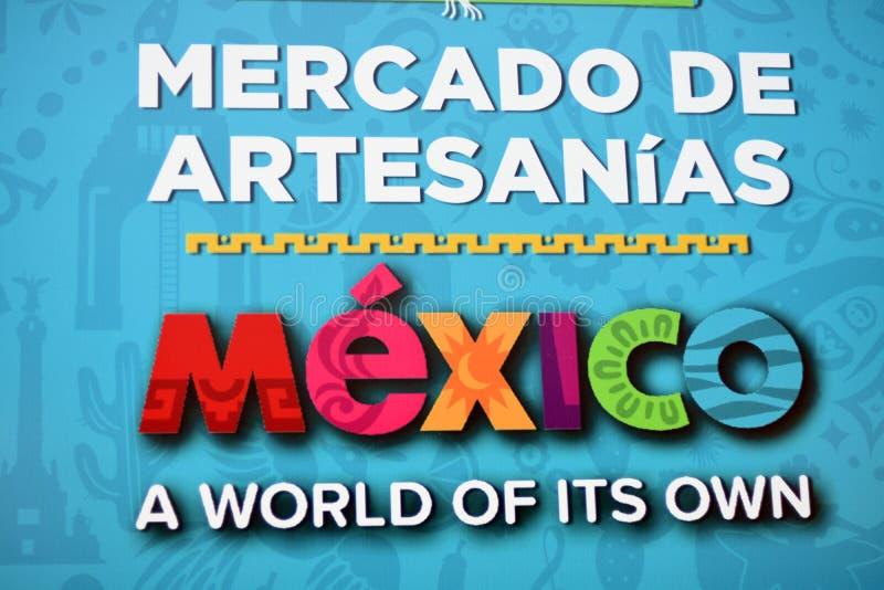 Meksyk fan strefy dekoracje w Moskwa podczas FIFA pucharu świata w Rosja obraz stock