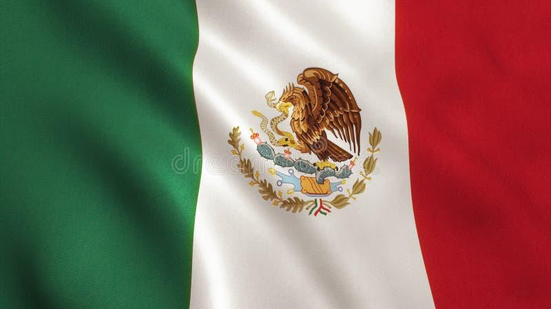 Meksyk flaga ilustracji