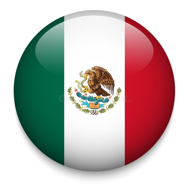 Meksyk flaga guzik ilustracji