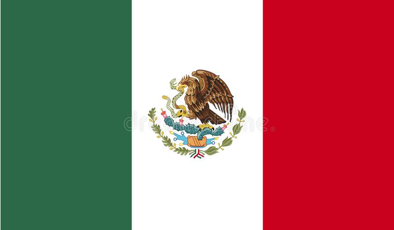 Meksyk flaga wizerunek ilustracji