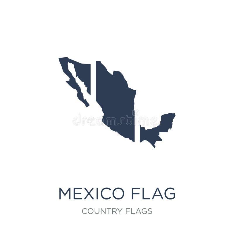 Meksyk flagi ikona Modna płaska wektorowa Meksyk flagi ikona na biały b ilustracja wektor