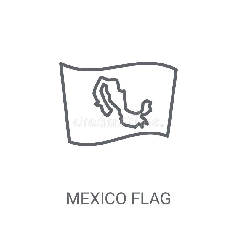 Meksyk flagi ikona Modny Meksyk flagi logo pojęcie na białym backg ilustracji