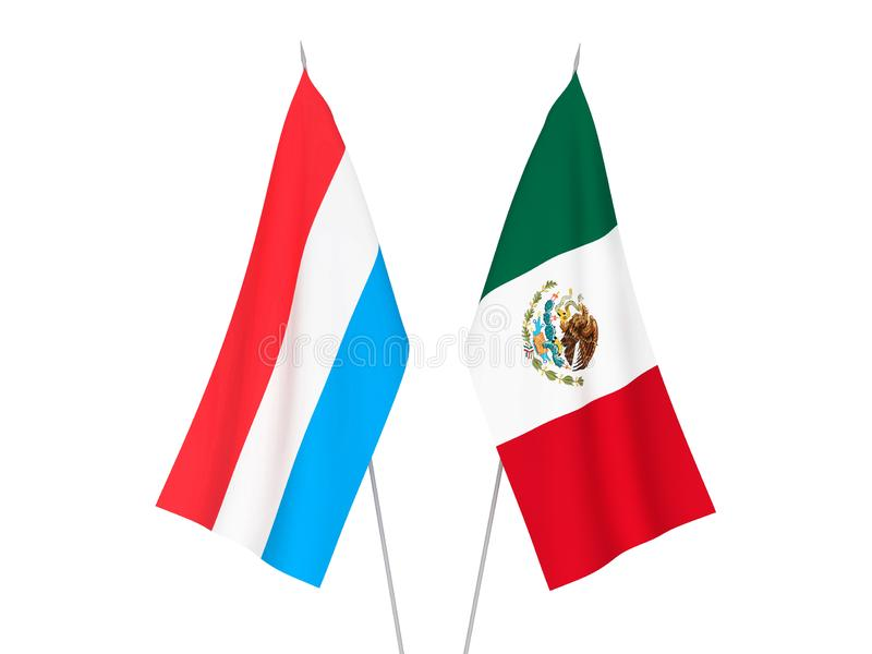 Meksyk i Luksemburg flagi royalty ilustracja