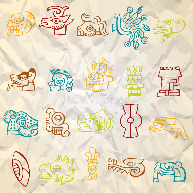 Meksyk i Peru miejscowego sztuka royalty ilustracja